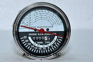 OLIVER-TRACTOR-TACHOMETER-Super-55-UP-TO-SN-46000-GAS-DIESEL-WHITE-FACE