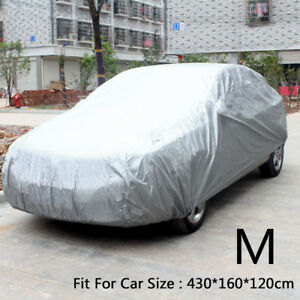 NEW Full Car Cover UV Protection Waterproof Breathable Medium M Size Universal