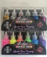 Bazic Classic & Neon 12 Color Glitter Glue Sparkle Your Creativity