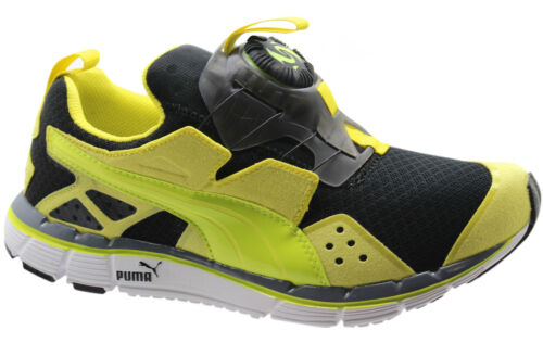 Puma Disc Ltwt 2.0 Lightweight Mens Trainers Yellow Black Slip On 186701 06 D114