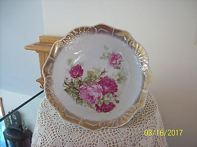 Three Crown China Antique Porcelain China Pink & Wine Colored Rose Design Less Expensive