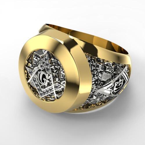 Stainless Steel Masonic Ring for Men Freemason Symbol G Templar Freemasonry Men