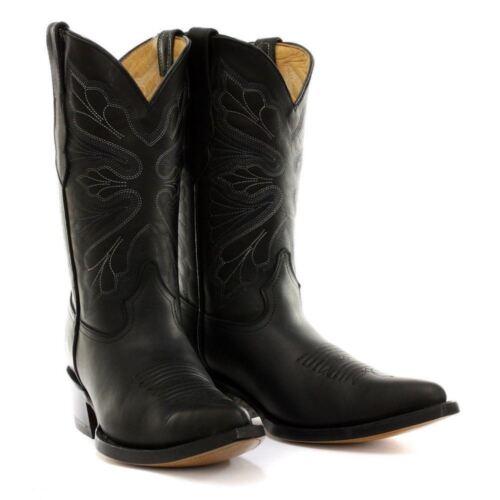 Grinders Dallas Black Western Cowboy Ladies Leather Boots
