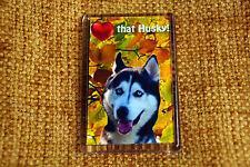 Siberian Husky Gift Dog Fridge Magnet 77 x 51 mm Birthday Gift