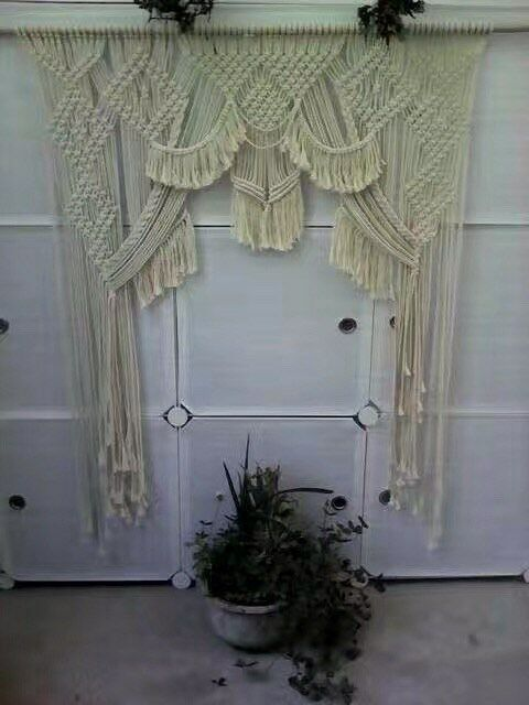 Natural Cotton + + + Hand Made Swag Curtain df1ac8