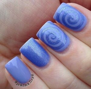 Big Spiral Cyclone Finger Nail Art Stencil Decal Vinyls Ebay