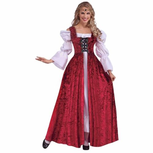 Plus Size Medieval Costume Dress Lady Guinevere Renaissance Queen Princess