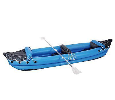 MWS573 - Kayak gonflable deux places 320x70cm (1 adulte + 1 enfant) BLEU