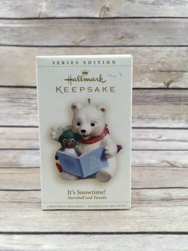 #B Hallmark 2006 Snowball and Tuxedo #6 Series It's Snowtime Christmas Ornament
