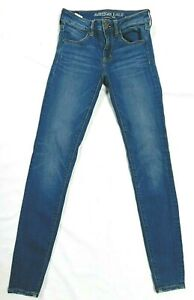American-Eagle-Super-Stretch-X-Blue-Jegging-Womens-Size-2-Long