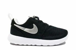 58c3d97c9ab0 Image is loading Nike-Roshe-One-Toddler-034-Black-Metallic-Silver-
