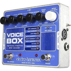 Electro Harmonix Voice Box Vocal Vocoding Synth Processor
