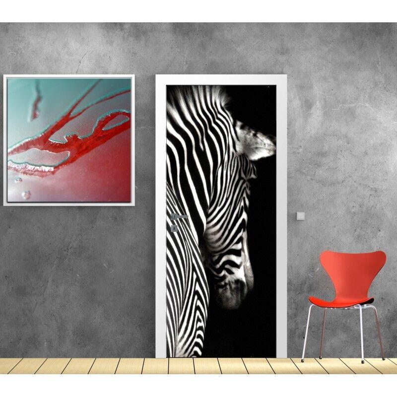 Carta Dipinto Porta Zebra 819