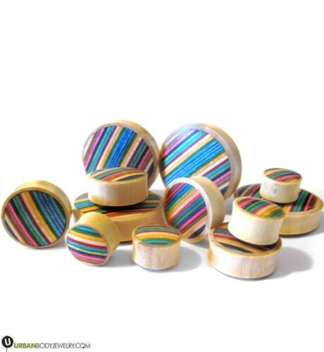"""New! Pair of Skateboard Wooden Plugs 1//2/"""" 1 Inch  Pick Your Gauge Size"""