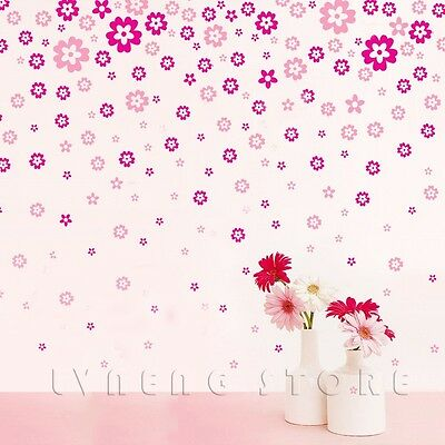Wall Stickers Removable Flowers Sticker Art  Wall Mural Decor Art DIY