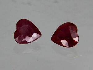 Natural-Thai-Ruby-SI1-0-23ct-4x4mm-Loose-Gemstone-Heart-Cut-Not-Treated
