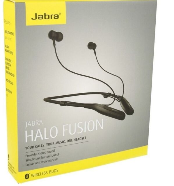 cf85a3e5fbc Jabra Halo Fusion Wireless Buds Black Neckband Headset Bluetooth for sale  online | eBay