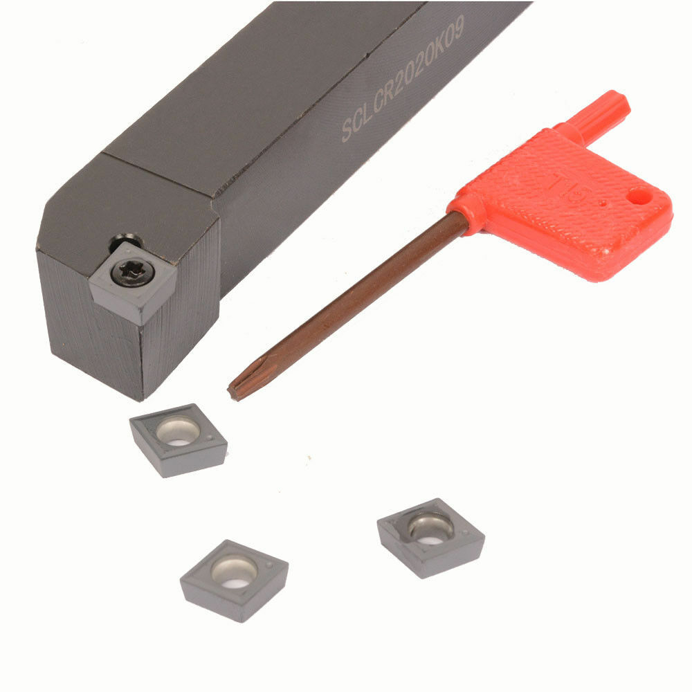 10pcs CCMT09T304 NN SCLCR2020K09 20x125mm Lathe External Turning Tool Holder
