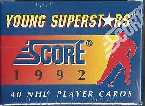 1992-Score-Young-Superstars-40-card-Hockey-Set-Jagr-Lindros-Sakic