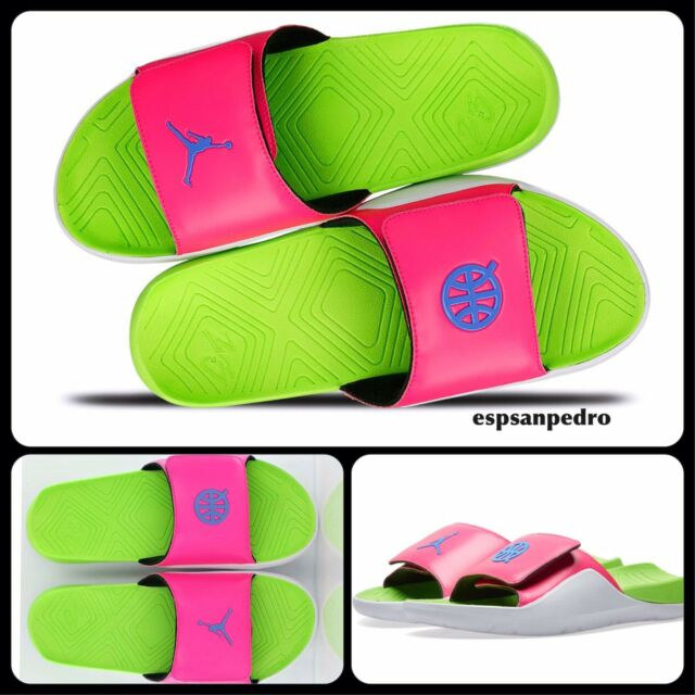 fc24f22a66b4 NIKE AIR JORDAN HYDRO 7 Q54 SLIDES UK7 EUR41 PINK BLAST UNI BLUE AT9193