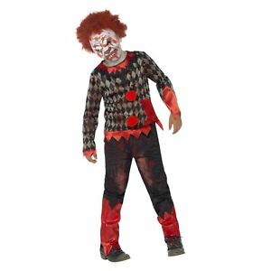 Ages 7 to 12 years Girl/'s Spooky Halloween Clown Fancy Dress Costume