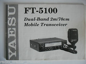 yaesu ft 5100 genuine instruction manual only rh ebay co uk