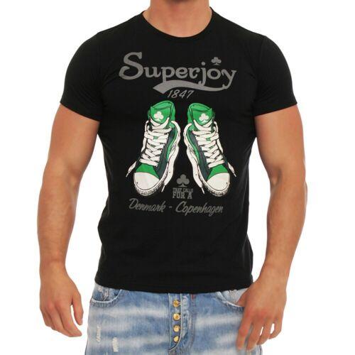 Herren Shirt Polo T-Shirt Kurzarm Motiv Slim Fit Figurbetont Clubwear M151