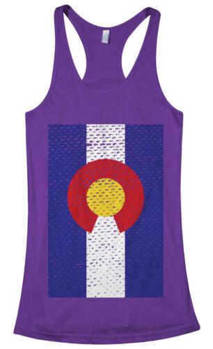 Threadrock Women/'s Colorado Flag Racerback Tank Top state denver