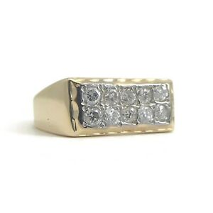 Flat Top Ring In 14k Yellow Gold