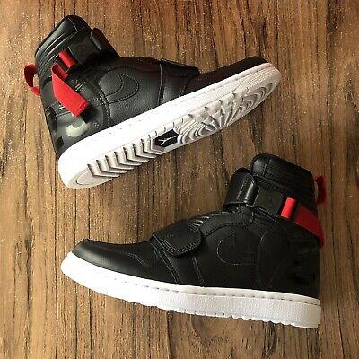sports shoes 582a0 fd1b9 A1154G Air Jordan 1 Moto Black Gym Red AT3146-001 Mens Size 12 NEW | eBay