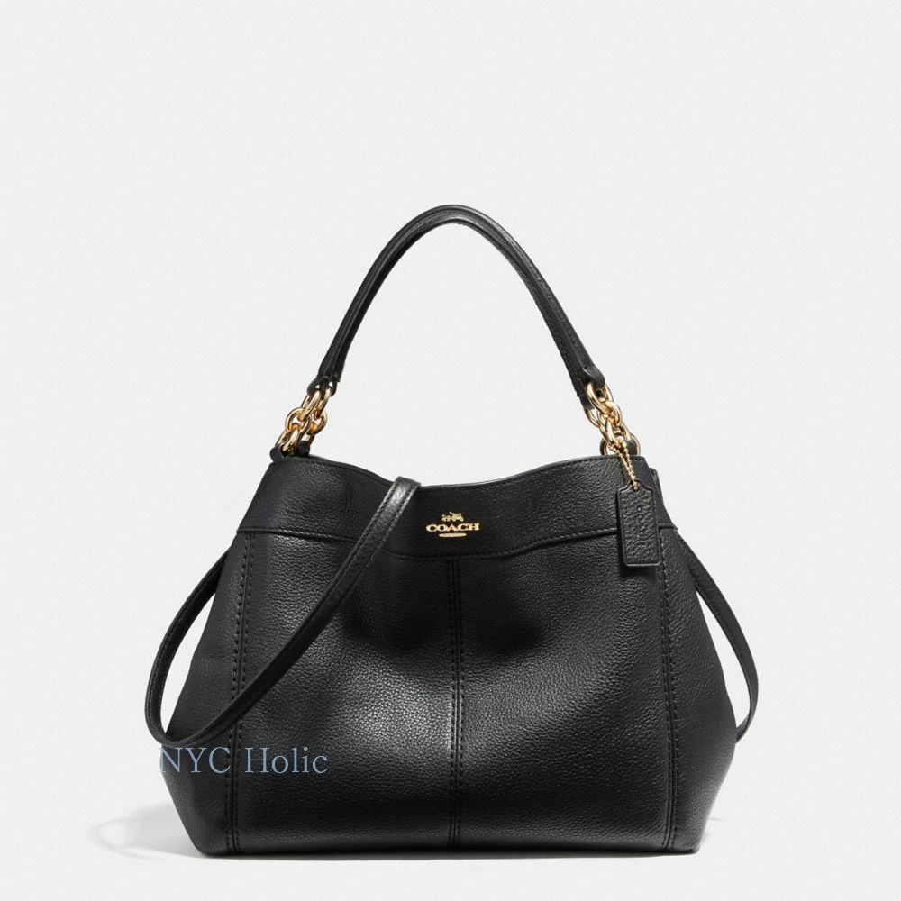 d988075eee New Coach F23537 F28992 Small Lexy Shoulder Bag In Pebble Leather ...