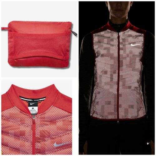 Chaleco mujer de Reflective Aeroloft Flash para Activewear Nike jogging correr para rr1vqwH
