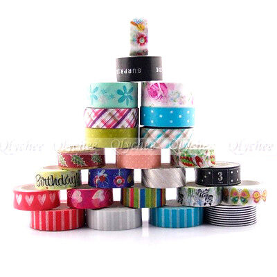 1 Roll DIY Washi Paper Scrapbook Decor Sticky Paper Masking Tape Self Adhesive