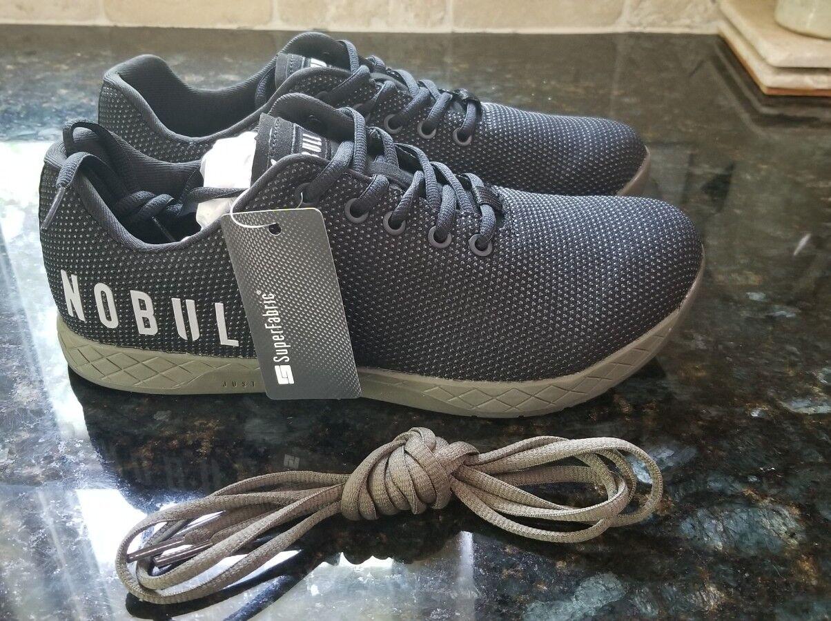 New NOBULL Project Black Ivy Textured Trainer Shoes Men's Sz 9.5  Women's Sz 11