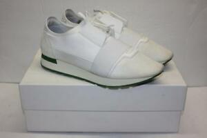 c1c43043a924 Image is loading Balenciaga-White-Green-Race-Runner-Sneaker-Shoes-11-
