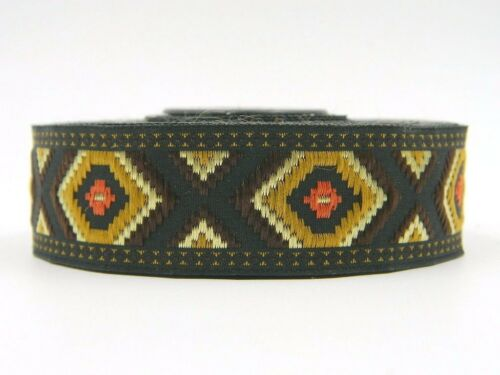 10m Borte Gewebt//Webband   Retro//Tribal  Azteken Muster 25mm Breit 0,99€//m