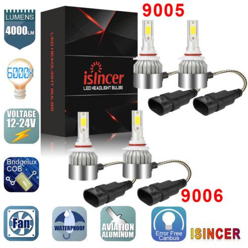 9005+9006 Combo 160W 16000LM CREE LED Headlight Kit High /& Low Beam Light Bulbs