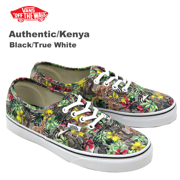 Vans Authentic Kenya Noir/Vrai Blanc Tennis Taille UK 3 New (316 _ 4)