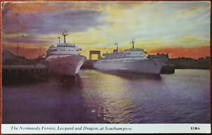 The-Normandy-Ferries-Leopard-and-Dragon-At-Southampton-Postcard