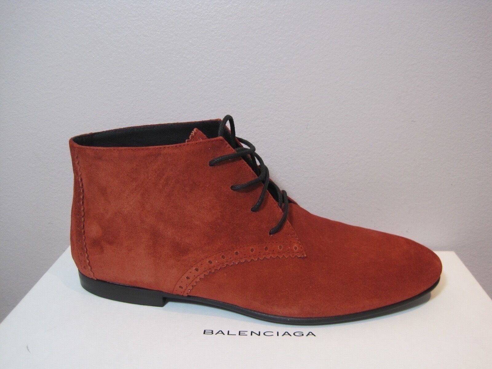 Balenciaga Arena Brick Suede Leather Oxford Boots Booties Shoes 665 38.5 8.5