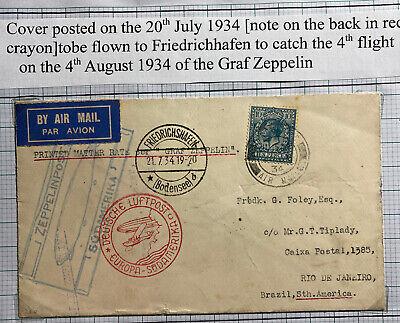 1936 Germany Graf Zeppelin Cover LZ 127 to Pforzheim Trial Flight | eBay