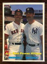1990 A.L. POWER HITTER #43 SCD Baseball Card Price Guide Insert Card  F6017321
