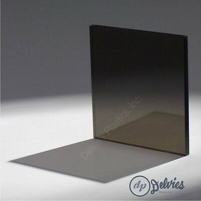 "6/"" x 12/"" Dark Gray Smoke Transparent Acrylic Plexiglass #2074-1//4/"" 2 Pack"