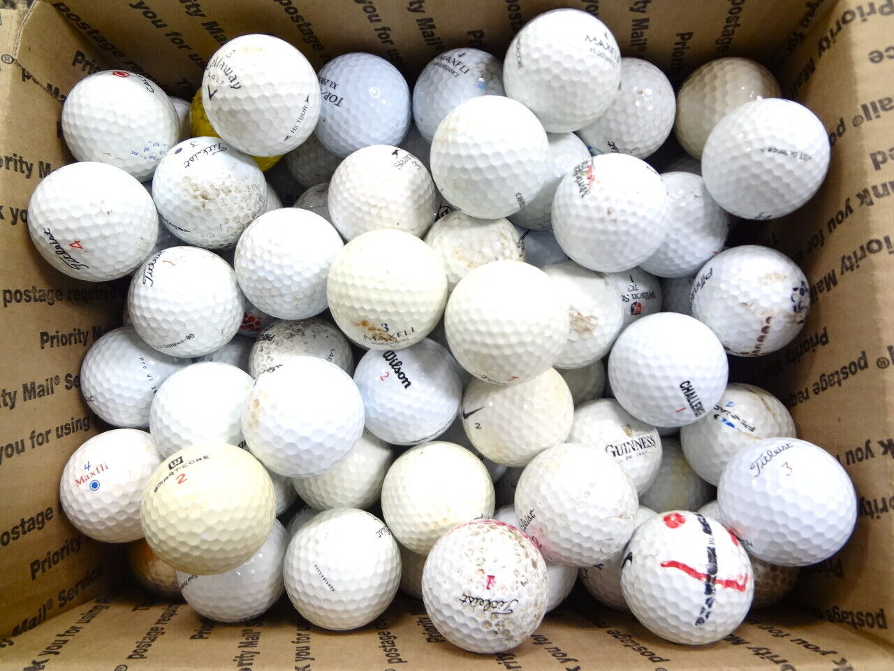 100 Miscellaneous Hit Away Practice Range Shag Golf Balls