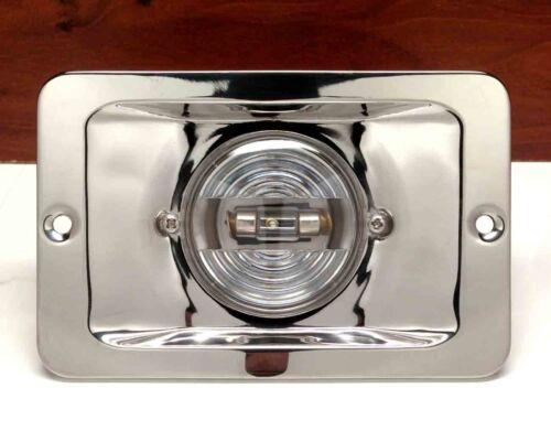 PACTRADE MARINE BOAT STERN LIGHT RECTANGULAR SS304 SPLASH PROOF FLUSH MOUNT 12V