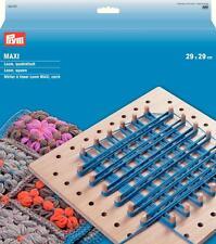 Prym Maxi Loom quadratisch 29 x 29 cm mit 50 Holzstifte + Anleitung 624157