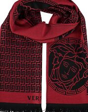 VERSACE scarf - red & black wool - £300 шарф / sciarpa / Schal / écharpe