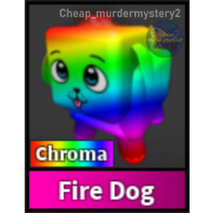 Murder Mystery 2 MM2 Chroma Fire Dog Roblox *FAST DELIVERY* Read Description