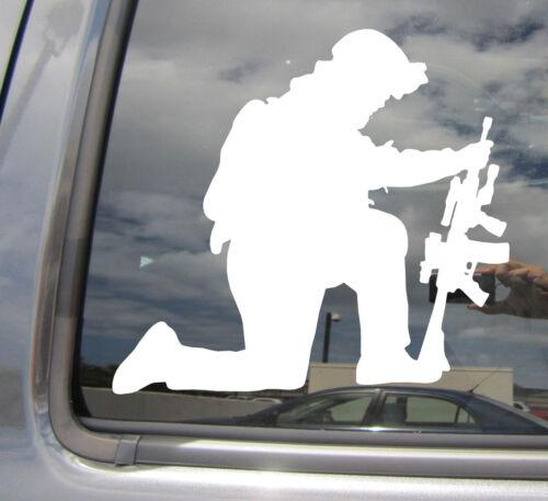 Kneeling Soldier Military Car Laptop Bumper Window Vinyl Decal Sticker 09041