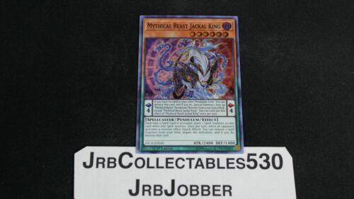 X1 YUGIOH MYTHICAL BEAST JACKAL KING INCH-EN048 SUPER RARE 1ST NM